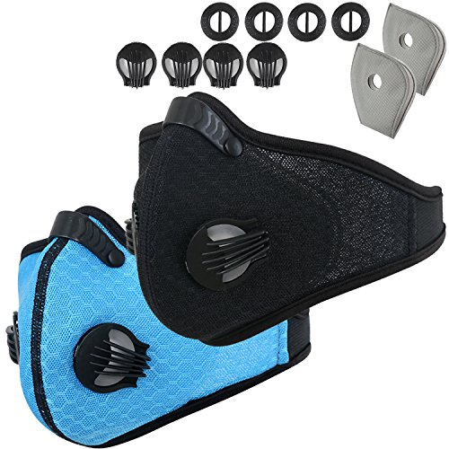 Dust Mask, RooRuns Running Mask Activated Carbon Filtration Exhaust